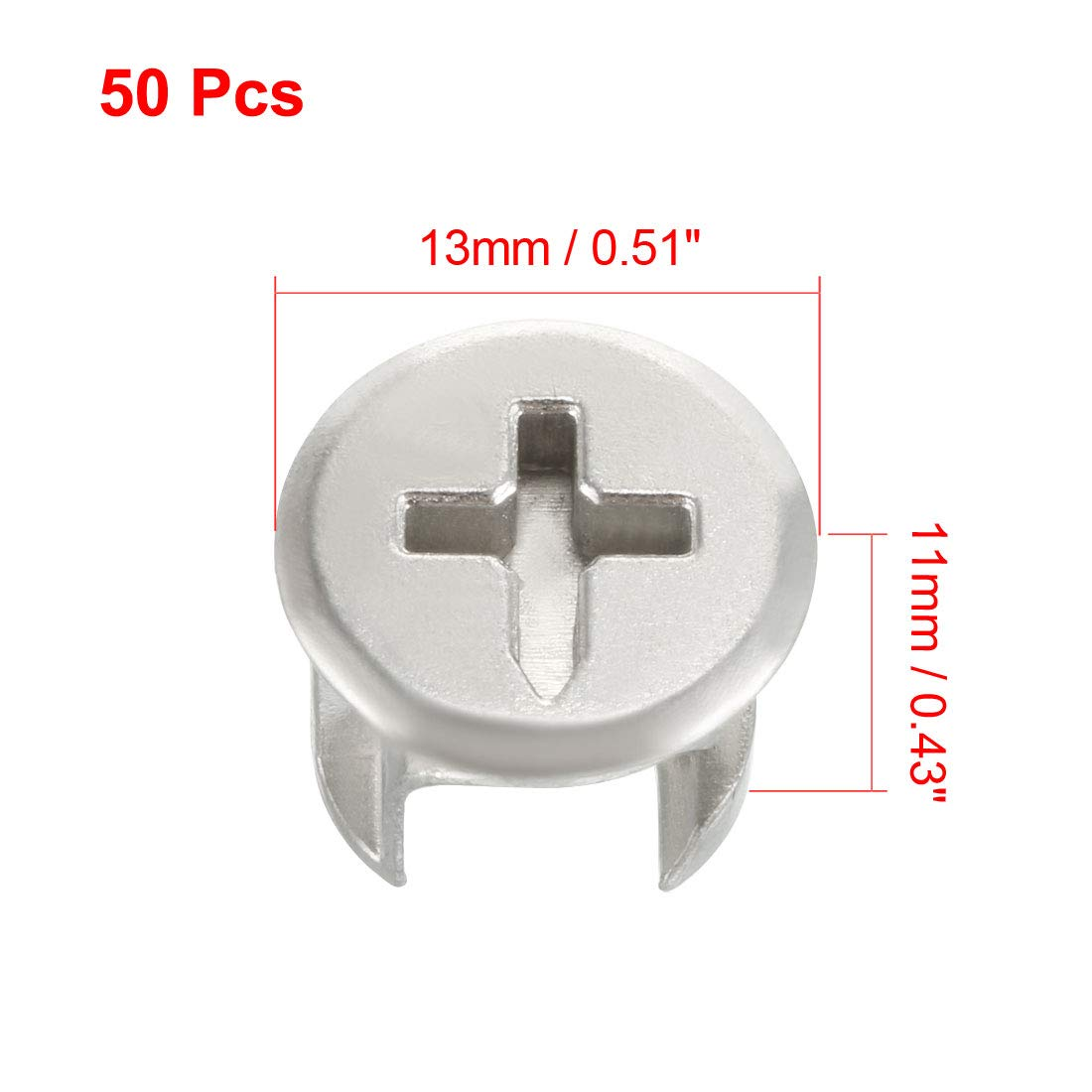 uxcell 15mm Dia Furniture Connecting Cam Lock Fittings Zinc Alloy Silver Tone 10pcs