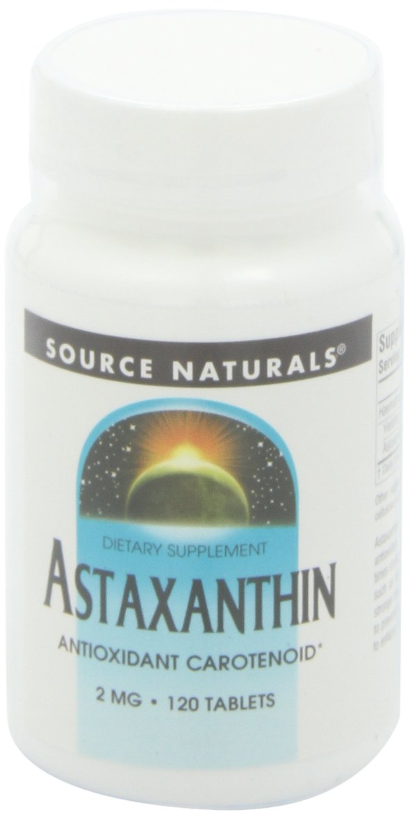 Source Naturals Astaxanthin 2mg, 120 Tablets (Pack of 2)