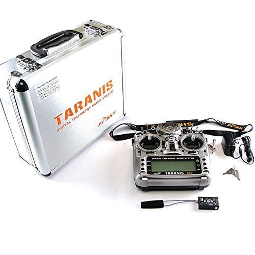 FrSky Taranis X9D plus 16-channel 2.4Ghz ACCST Radio Transmitter (mode 2) With X8R Alu Case & Carton from FrSky