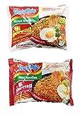 Indomie Mi Goreng Instant Halal Stir Fry Noodles Original and Hot & Spicy Bundle, 10 counts total