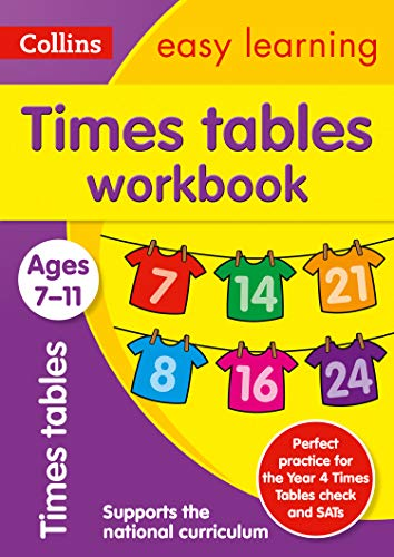 Collins Easy Learning Age 7-11 — Times Tables Workbook Ages 7-11: New ()