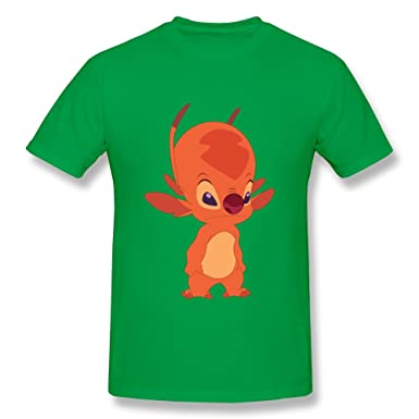 Amazoncom Custom Short Sleeve Fashion Lilo And Stitch Fibber Man T