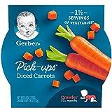 Gerber Graduates Veggie Pick Ups - Diced Carrots, 4.5-Ounce (Pack of 8)