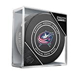 Sher-Wood 2018 Round 1 & 2 Columbus Blue Jackets Official Game Puck 960T NHL Stanley Cup, One Size, Black