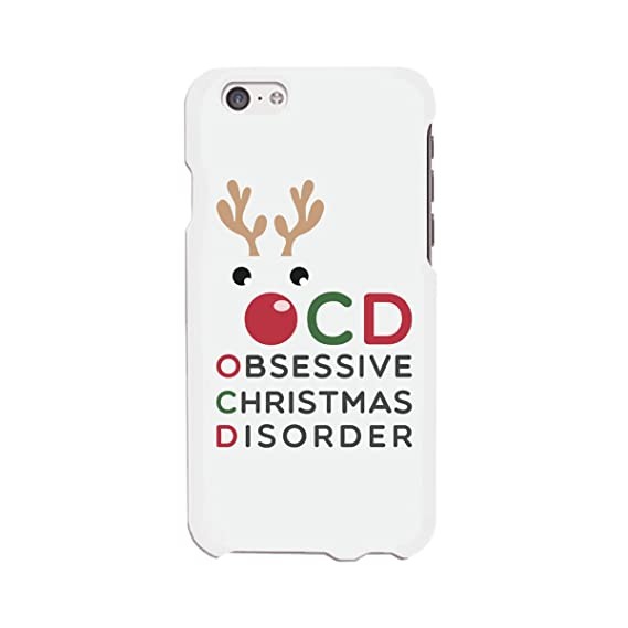 best service 22bc1 3601f Amazon.com: Cute Obsessive Christmas Disorder Rudolph phone case for ...