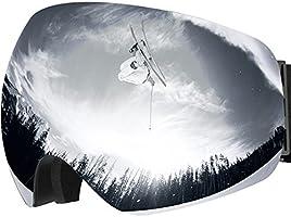 Maschera da Sci, OMORC Occhiali da Snowboard, Super-Grandangolo a Lente Sferica a Doppia Strato, NESSUN Appanamento Trattamento di Protezione UV400, per Donna e Uomo, Ideale per Sport Invernali, Blu