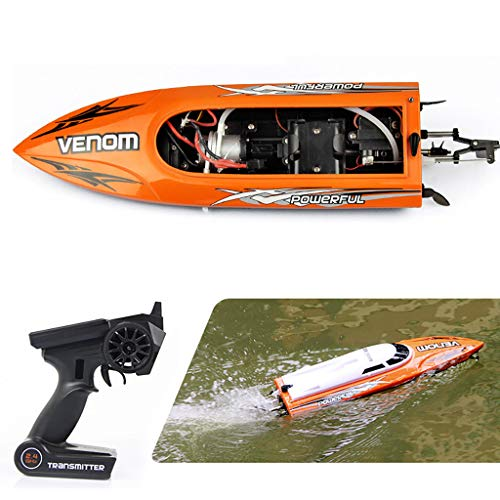 - COLNER RC Remote Control Boat, 2.4GHz High Speed Electric RC Boat for Adults & Kids for Pools and Lakes and Outdoor Adventure RC Racing Boats