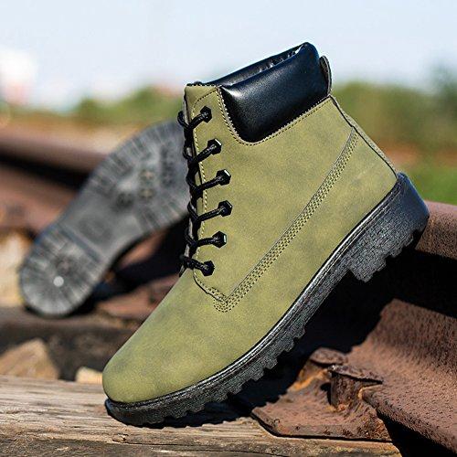 Green Giallo Stivali Boots Foderato Marrone Albero Stivali Stivali 39 Yying 46 Corto Olive Comat Caldo Arm Classico Lavoratore Camuffare Scarpe Nero Uomo xq5wF5CT