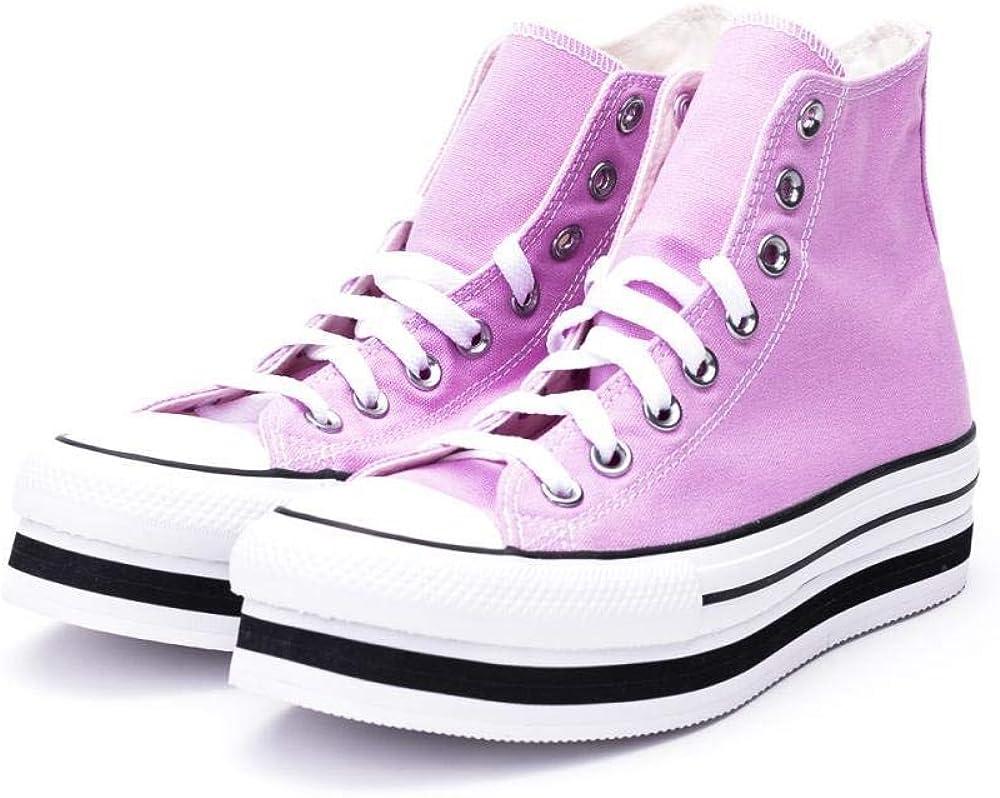 Converse Chuck Taylor all Star Platform High Top Scarpe Sportive Donna Rosa 567995C Pink White Black