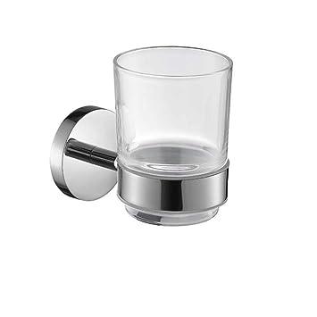 CF Portavasos Colgante para baño Portavasos Acero Inoxidable 304 Set de Vasos para cepillos de Dientes Vaso Copa Vasos Portacepillos para cepillos de ...
