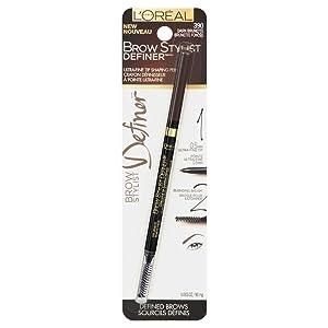 Loreal Paris Brow Stylist Dark Brunette Definer Pencil -- 2 per case.