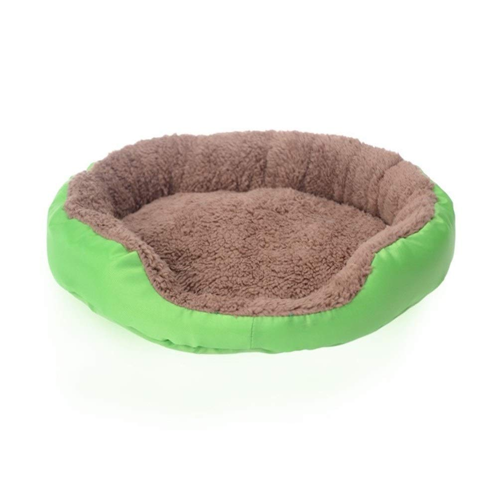Green S 35x30cm Green S 35x30cm SHYPwM Pet Dog Bed Winter Warm Dog House for Small Large Dogs Soft Pet Nest Kennel Cat Sofa Mat Animals Pad Pet Supplies (color   Green, Size   S 35x30cm)