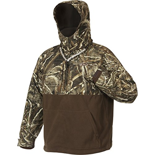 Mst Eqwader 1/4 Zip - Drake MST Eqwader Deluxe 1/4 Zip with Hood  Realtree Max-5 Jacket, Large