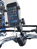 USB Cell Phone Charging Handlebar Mount with 1'' Ball for RAM Grips for ATV Motorcycle (Black) by GEARS