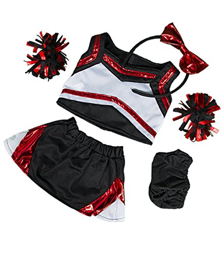 - Metallic Red & Black Cheerleader Teddy Bear Clothes Outfit Fits Most 14