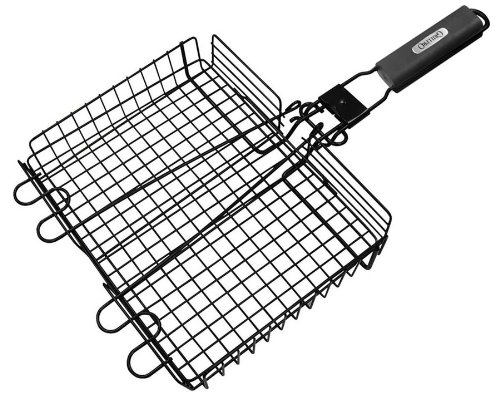 Camp Cooking Tips And Tricks - Use the right camp cooking tools like this GrillPro 24876 Deluxe Non Stick Broiler Basket with Detachable Handle