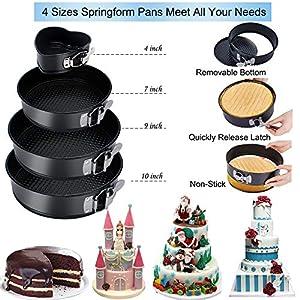 Cake Decorating Supplies 2020 Upgrade 367 PCS Baking Set with Springform Cake Pans Set,Cake Rotating Turntable,Cake…