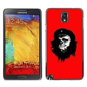Caucho caso de Shell duro de la cubierta de accesorios de protección BY RAYDREAMMM - Samsung Galaxy Note 3 N9000 N9002 N9005 - Che Guevara Caricature Art Painting Monkey Man