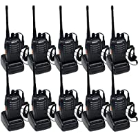 Ammiy Walkie Talkies 16 Channels Long Range Two Way Radios with Rechargeable Batteries 10 Pack of Radio