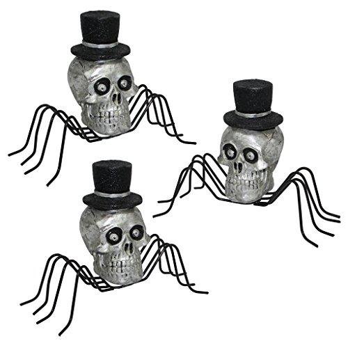 Design Toscano The Black Widow Spider Sculpture: Set of 3