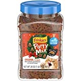 Purina Friskies Made in USA Facilities Cat Treats, Party Mix Original Crunch Holiday - 20 oz. Canister: more info