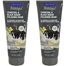 Freeman Facial Charcoal & Black Sugar Polish Mask 6 oz. - Set of 2