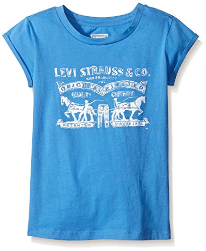 Levi's Big Girls' Graphic Logo T-Shirt, Regatta, ()