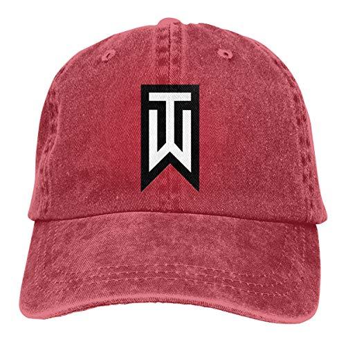 Tiger Woods Unisex Baseball Cap Hip Hop Hat Red ()