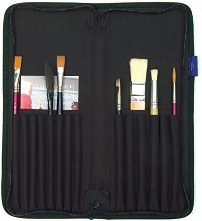 Estuche para brochas con cremallera, organizador de pinceles de artista, estuche para guardar la ágata: Amazon.es: Hogar