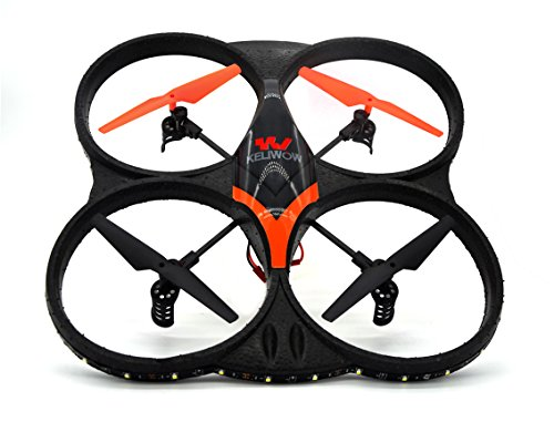 KELIWOW 2.4GHz 4 CH 6 Axis Gyro RC Quadcopter with HD Camera 360-degree Rolling LED Light
