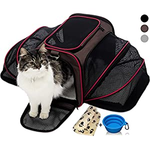 PETYELLA Pet Carrier + Fleece Blanket & Bowl - Innovative Design Airline Approved - Lightweight Dog & Cat Carrier 88