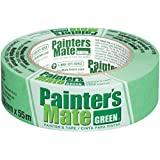 Painter's Mate Green Brand CP 150/8-Day Painter's Tape, Multi-Surface, 36mm x 55m, Green, 1 Roll (103367)