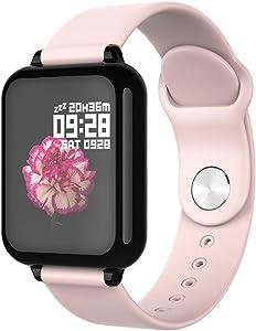 "TTVBOX Smart Watch Touchscreen Bluetooth Fitness Tracker with Heart Rate Monitor Activity Tracker with 1.5"" Calorie Burn Sleep Monitor IP68 Waterproof Pedometer for Women Men Kids Girls"