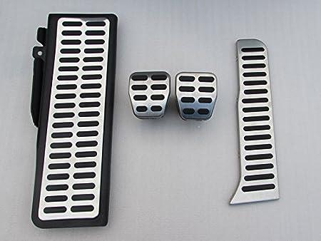 CAIXCAR Kit de Pedal reposapies apoyapies Golf 5 Golf V Golf 6 Golf Vi Scirocco Jetta III EOS Tiguan Octavia Leon 2 Toledo 3 Altea