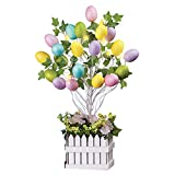 #5: Lighted Easter Egg Floral Tree Centerpiece Decoration Tabletop
