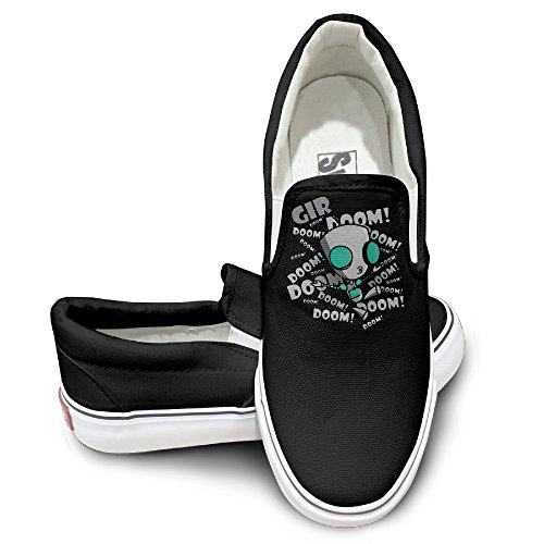 Gir Zim Costume Invader (OOONG Invader Zim Cartoon Gir Role Poster Casual Slip On Canvas Shoes)