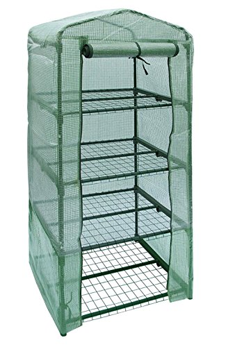 NKTM 4-Tier Mini Greenhouse Replacement Cover,Outdoor Compact Walk-in Greenhouse