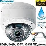 USG 6-in-1 CCTV Format Panasonic Chip 1080P 2MP High Definition Dome Security Camera With Deep Base : 2.8-12mm Vari-Focal Lens, 30x IR LEDs : HD-SDI, EX-SDI, HD-TVI, HD-CVI, AHD, Analog Format