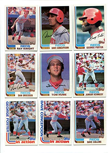 Topps 1982 Cincinnati Reds 25 Card Lot George Foster, Dave Concepcion, Ray Knight, Junior Kennedy, Mario Soto, Tom Hume, Dan Driessen and -