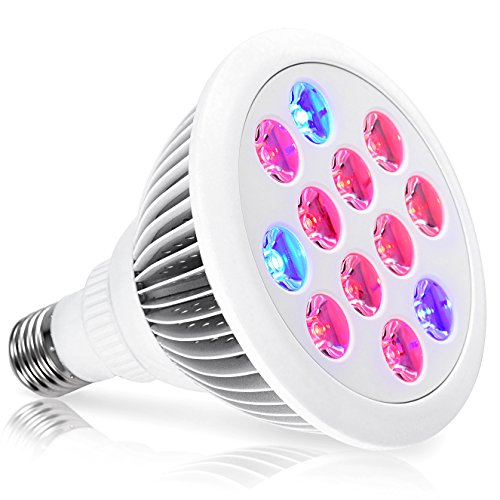 LED Grow Light Bulb,Oak Leaf Sun Blaster Grow Plant Light For Indoor Hydroponics Greenhouse and Garden,12W