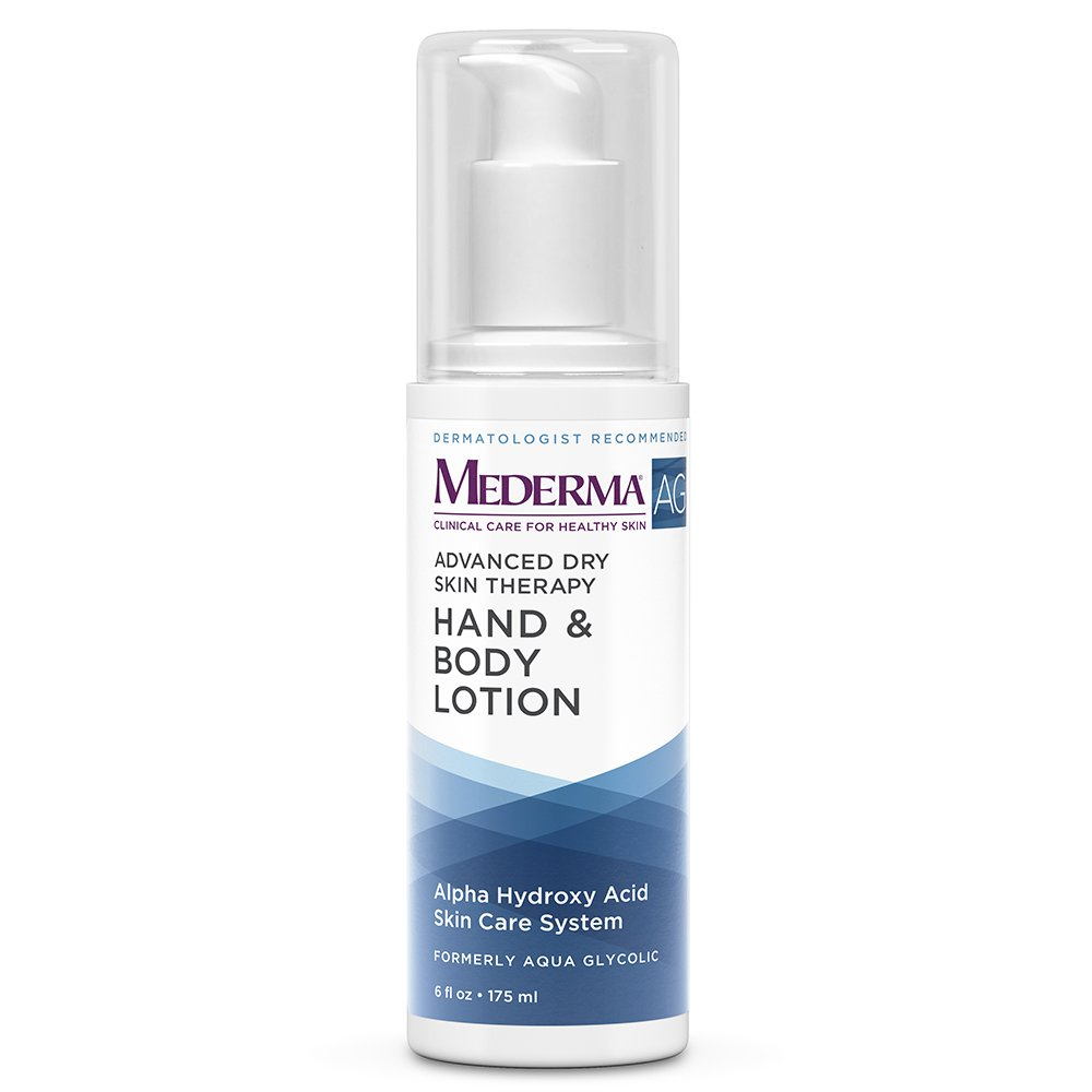 Mederma AG Moisturizing Hand & Body Lotion – with glycolic acid to maintain moisture and gently remove dry, sun-damaged skin cells -  dermatologist recommended brand - fragrance-free - 6 ounce