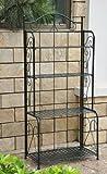 4-Tier Iron Indoor/Outdoor Bakers Rack (Verdigris)