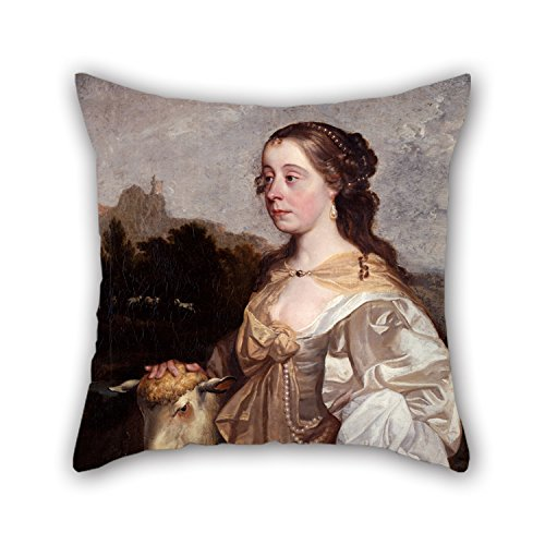 Uloveme Cushion Cases Of Oil Painting Greenhill, John - A Lady As A Shepherdess 20 X 20 Inches / 50 By 50 Cm,best Fit For Sofa,teens Girls,saloon,office,bar,boy Friend Two (Shepherdess Costume)