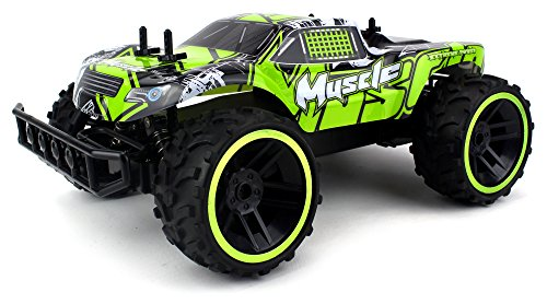 Velocity Toys Muscle Remote Control RC Truggy Truck Buggy 2.4-GHz PRO System 1:12 Scale Size RTR with Working Suspension and Spring Shock Absorbers