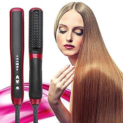 cepillo térmico eléctrico alisador plancha para el pelo ...