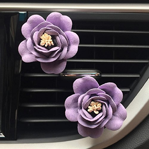 Naladoo Car Accessory,Car Multiflora Flower Air Outlet Fragrant Perfume Clip Air Freshener Diffuser (Purple)