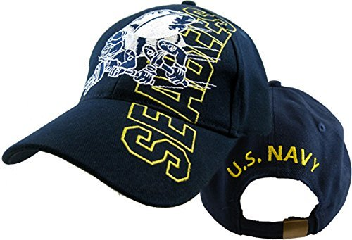 - U.S. Navy Seabees Logo Cap,Navy Blue,One Size Fits Most