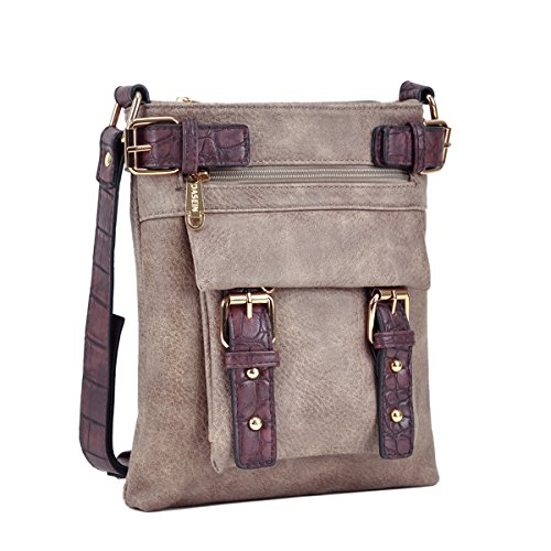 Dasein Women Lightweight Crossbody Bags Soft Vegan Leather Messenger Bag Shoulder Bag Travel Purse