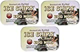 ICE CHIPS Xylitol Candy Tins (Egg Nog, 3 Pack)