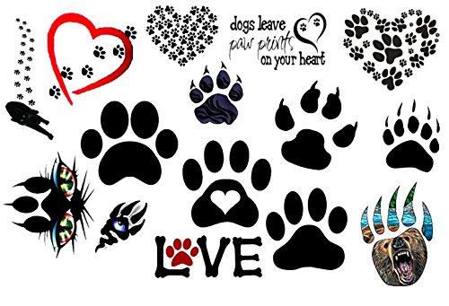 Paw Prints Temporary Tattoos]()